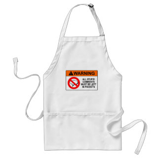 Leave Your Comments in Your Pocket Sign Adult Apron