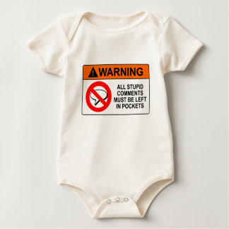 Leave Your Comments in Your Pocket Sign Baby Bodysuits