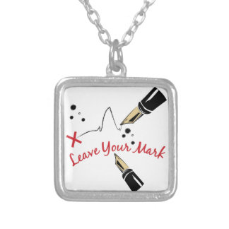 Leave Your Mark Square Pendant Necklace