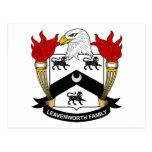 Leavenworth Family Crest Postcard