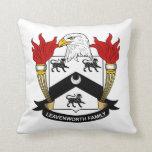 Leavenworth Family Crest Throw Pillow