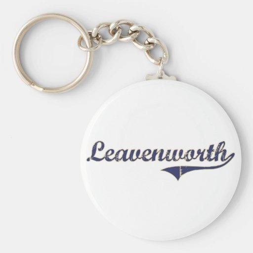 Leavenworth Washington Classic Design Basic Round Button Keychain