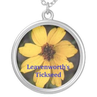 Leavenworth's Tickseed Round Pendant Necklace
