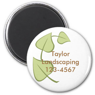 Leaves... 2 Inch Round Magnet