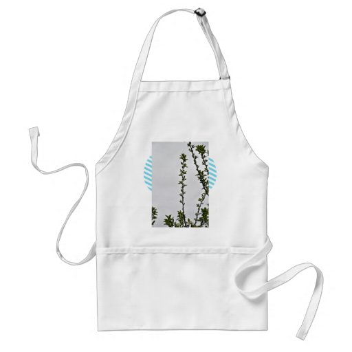 Leaves against cloudy sky adult apron