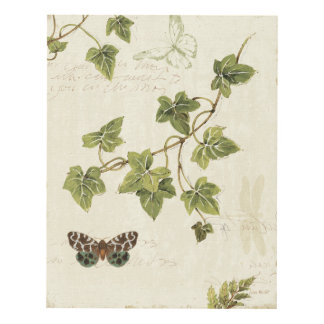 Leaves and a Butterfly Panel Wall Art