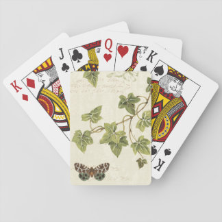 Leaves and a Butterfly Playing Cards