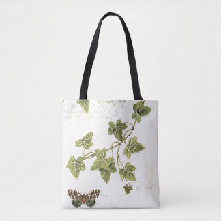 Leaves and a Butterfly Tote Bag