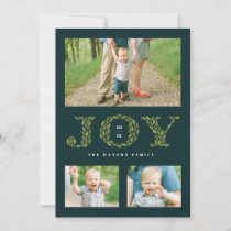 Leaves and Berries Holiday Multi Photo Card