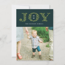 Leaves and Berries Holiday Photo Card