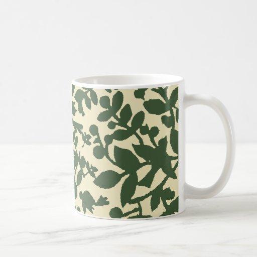 Leaves and birds coffee mug