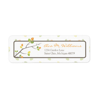 Leaves and Branches Address Label