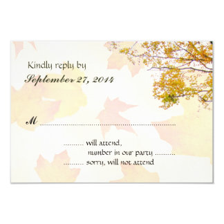 Leaves and Branches Fall Wedding RSVP Card