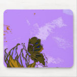 Leaves and Butterfly Abstract Purple Pretty Mouse Pads