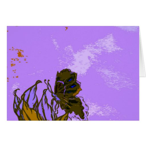 """""""Leaves and Butterfly""""  CricketDiane Designer Stuf Card"""