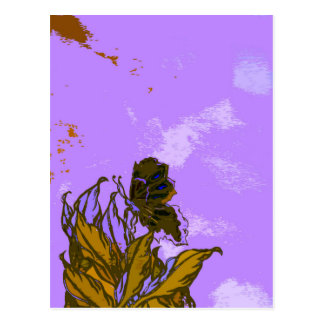 """Leaves and Butterfly""  CricketDiane Designer Stuf Postcard"