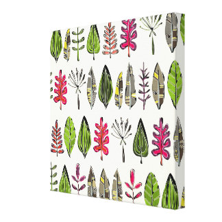 leaves and feathers gallery wrap canvas