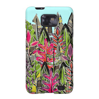 leaves and feathers jungle samsung galaxy SII covers
