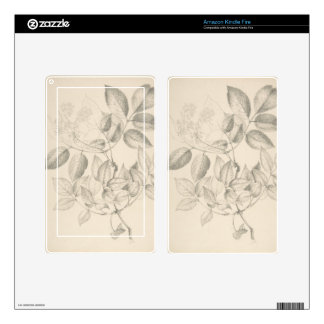 Leaves and Flowers - British 19th century Kindle Fire Skin