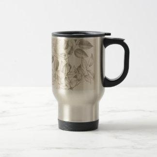 Leaves and Flowers - British 19th century Travel Mug