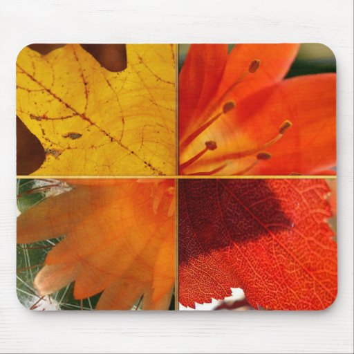 leaves and flowers mouse pad