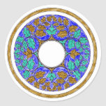 Leaves and Flowers Victorian Ornament Classic Round Sticker