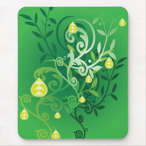 leaves and fruit mouse pad