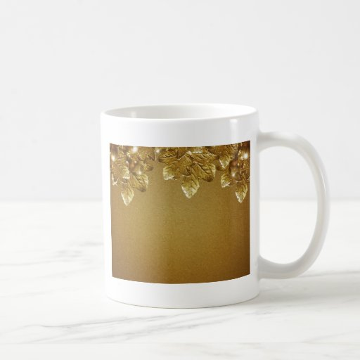 Leaves and Fruits Decorative Background Classic White Coffee Mug