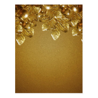 Leaves and Fruits Decorative Background Post Card