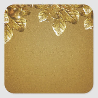 Leaves and Fruits Decorative Background Square Sticker