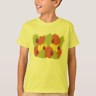 Leaves And Ladybugs In Autumn Kids T-Shirt