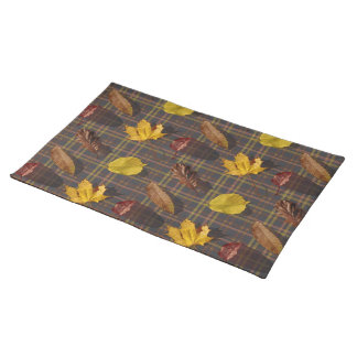 Leaves and Tartan Placemat