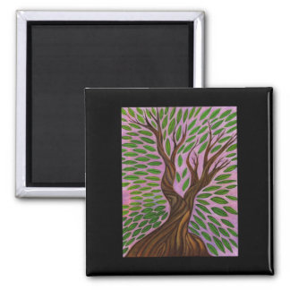 Leaves And Trunk Tree Magnet