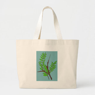 Leaves and Twigs Large Tote Bag