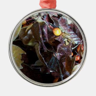 Leaves & Apples Metal Ornament