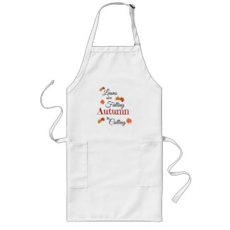 Leaves Are Falling Long Apron