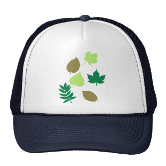 Leaves autumn mesh hat
