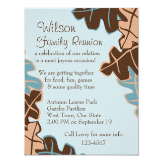 """Leaves Be-Scattered! 4.25"""" X 5.5"""" Invitation Card"""