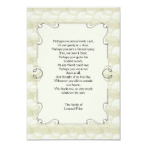 Leaves Bereavement Thank You Notecard