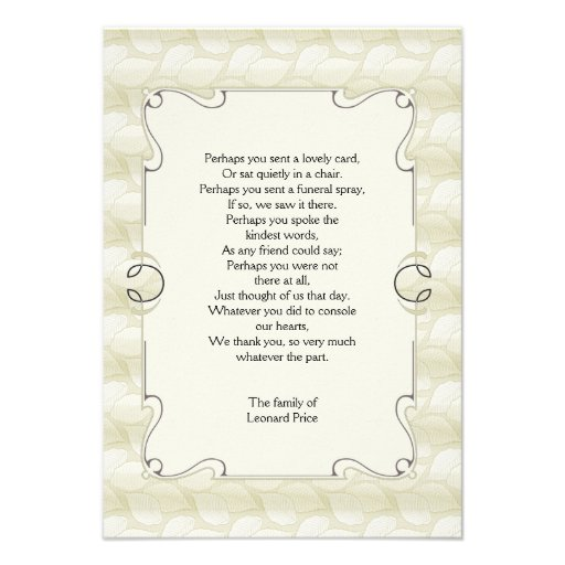 Bereavement Thank You Cards Pictures to Pin PinsDaddy – Funeral Words for Cards