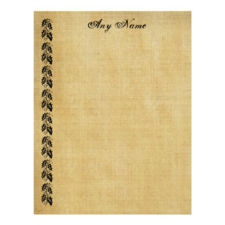 Leaves Border Vintage Personalized Paper Letterhead