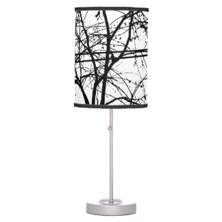 Leaves, Branches And Power Lines In The Fall Desk Lamp