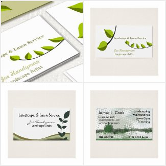 Leaves Branches Nature Business Cards