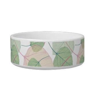 leaves cat bowls
