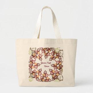 Leaves Circle. Jumbo Tote Bag