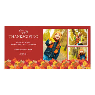 LEAVES COLLAGE | HOLIDAY PHOTO CARD