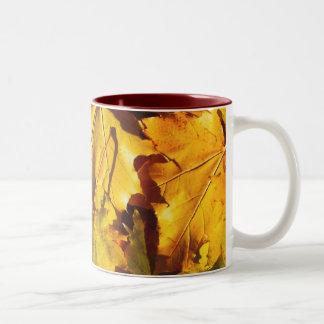 Leaves customizable mug