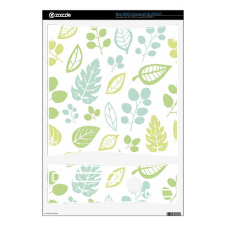 Leaves Design in Blue & Green Decal For Xbox 360 S