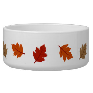 leaves dog bowl