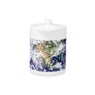 leaves earth teapot